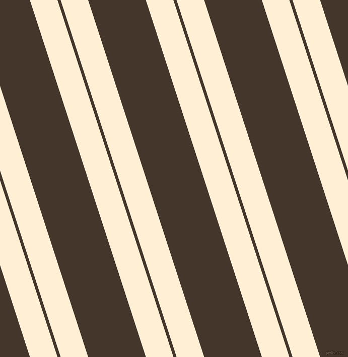 108 degree angle dual striped line, 52 pixel line width, 6 and 109 pixel line spacing, Papaya Whip and Dark Rum dual two line striped seamless tileable