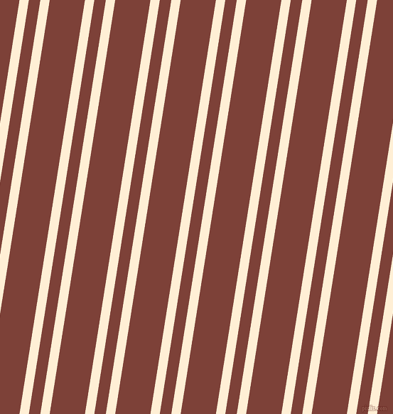 81 degree angle dual striped line, 13 pixel line width, 16 and 49 pixel line spacing, Papaya Whip and Red Robin dual two line striped seamless tileable
