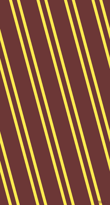 105 degree angle dual stripe line, 10 pixel line width, 16 and 55 pixel line spacing, Paris Daisy and Sanguine Brown dual two line striped seamless tileable