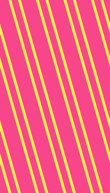 106 degree angles dual stripe lines, 10 pixel lines width, 22 and 51 pixels line spacing, Paris Daisy and Violet Red dual two line striped seamless tileable
