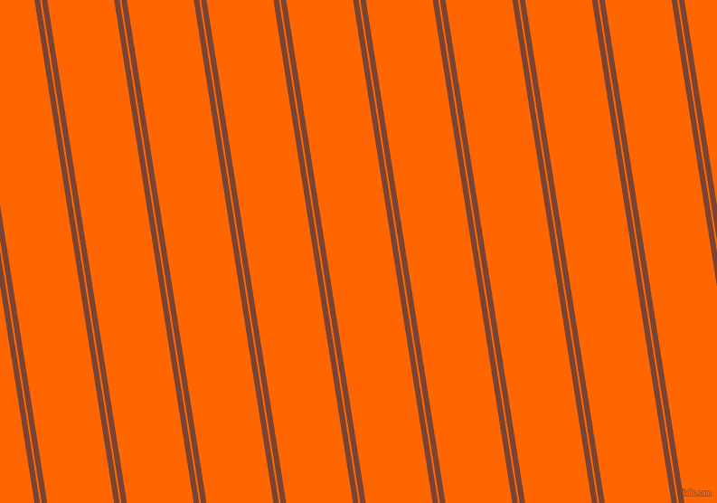 99 degree angles dual stripe lines, 6 pixel lines width, 2 and 73 pixels line spacing, Peanut and Safety Orange dual two line striped seamless tileable