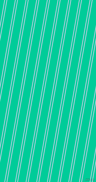 80 degree angles dual striped line, 3 pixel line width, 6 and 31 pixels line spacing, Periwinkle and Caribbean Green dual two line striped seamless tileable
