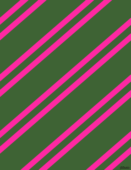41 degree angle dual striped line, 21 pixel line width, 24 and 98 pixel line spacing, Persian Rose and Green House dual two line striped seamless tileable