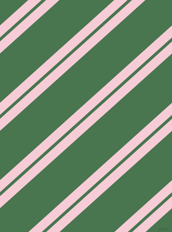 42 degree angles dual stripe lines, 30 pixel lines width, 10 and 123 pixels line spacing, Pink Lace and Killarney dual two line striped seamless tileable
