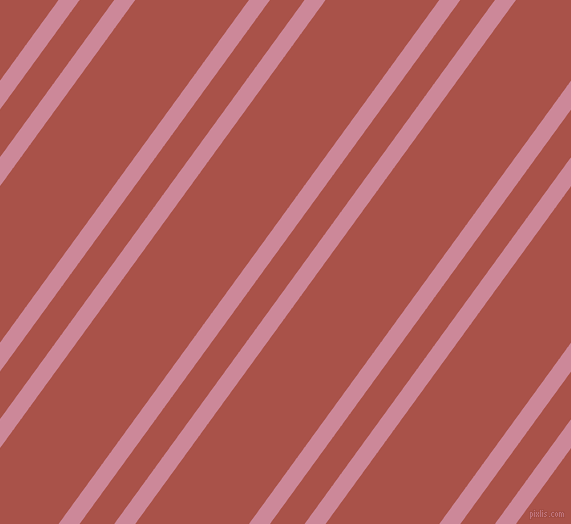 54 degree angles dual stripes lines, 17 pixel lines width, 28 and 92 pixels line spacing, Puce and Apple Blossom dual two line striped seamless tileable