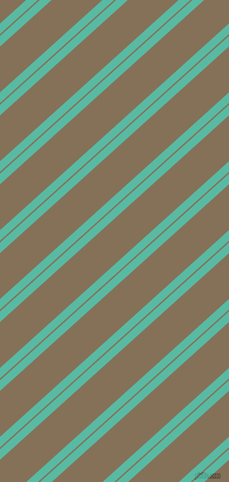42 degree angles dual stripes line, 11 pixel line width, 2 and 48 pixels line spacing, Puerto Rico and Cement dual two line striped seamless tileable