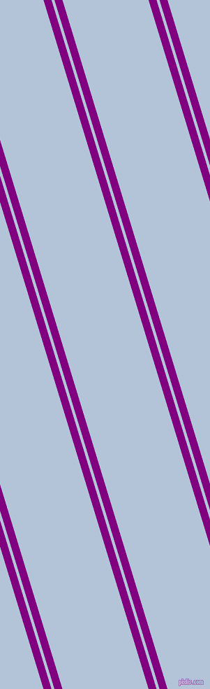 107 degree angles dual striped line, 11 pixel line width, 4 and 118 pixels line spacing, Purple and Spindle dual two line striped seamless tileable