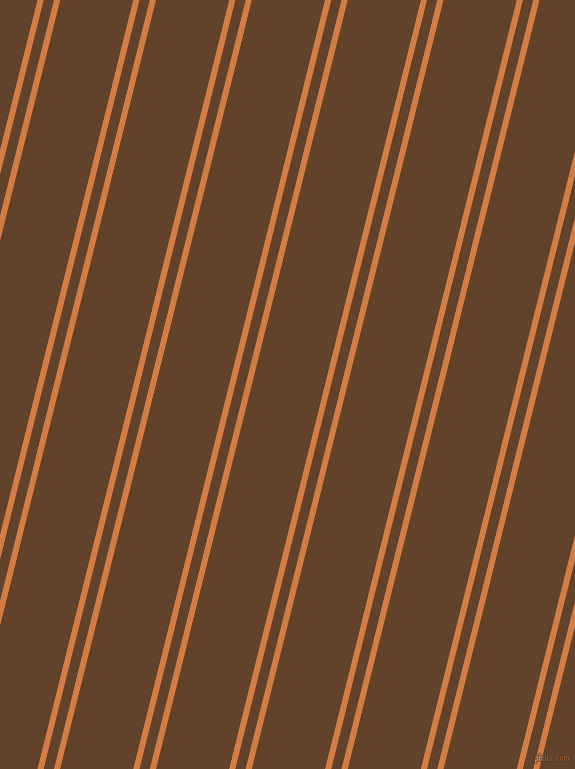 76 degree angles dual stripe line, 6 pixel line width, 10 and 71 pixels line spacing, Raw Sienna and Irish Coffee dual two line striped seamless tileable