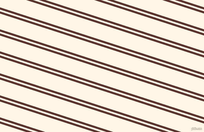 162 degree angle dual stripes line, 7 pixel line width, 6 and 51 pixel line spacing, Redwood and Old Lace dual two line striped seamless tileable