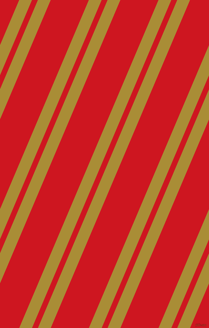 67 degree angles dual stripes line, 39 pixel line width, 18 and 116 pixels line spacing, Reef Gold and Fire Engine Red dual two line striped seamless tileable