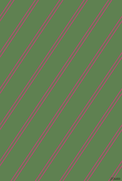 56 degree angles dual stripes line, 3 pixel line width, 6 and 58 pixels line spacing, Royal Heath and Glade Green dual two line striped seamless tileable