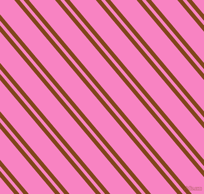 130 degree angles dual stripe lines, 8 pixel lines width, 6 and 40 pixels line spacing, Russet and Tea Rose dual two line striped seamless tileable