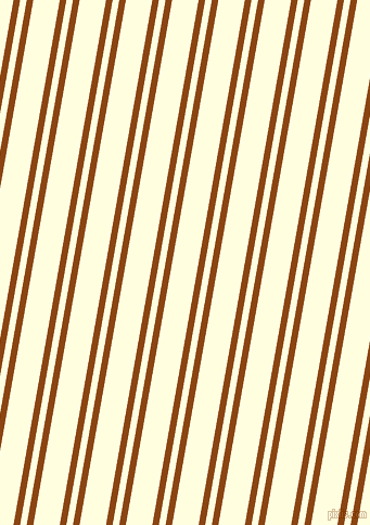 80 degree angle dual striped line, 6 pixel line width, 6 and 24 pixel line spacing, Saddle Brown and Light Yellow dual two line striped seamless tileable
