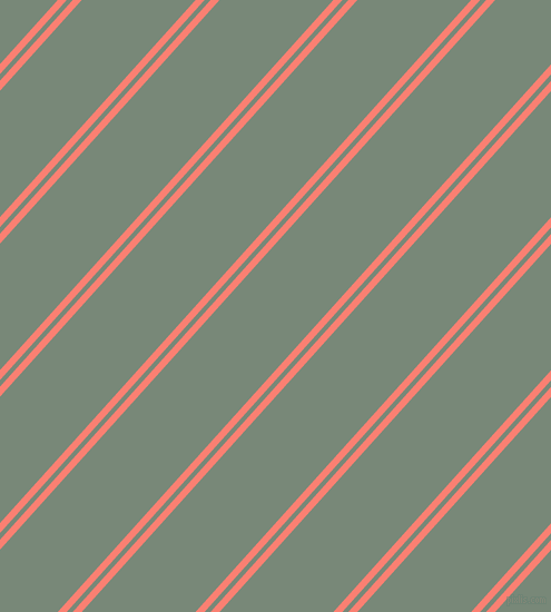 48 degree angles dual stripes line, 6 pixel line width, 4 and 76 pixels line spacing, Salmon and Davy