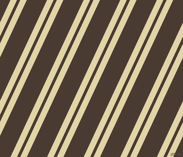 65 degree angles dual stripes lines, 20 pixel lines width, 10 and 62 pixels line spacing, Sapling and Taupe dual two line striped seamless tileable