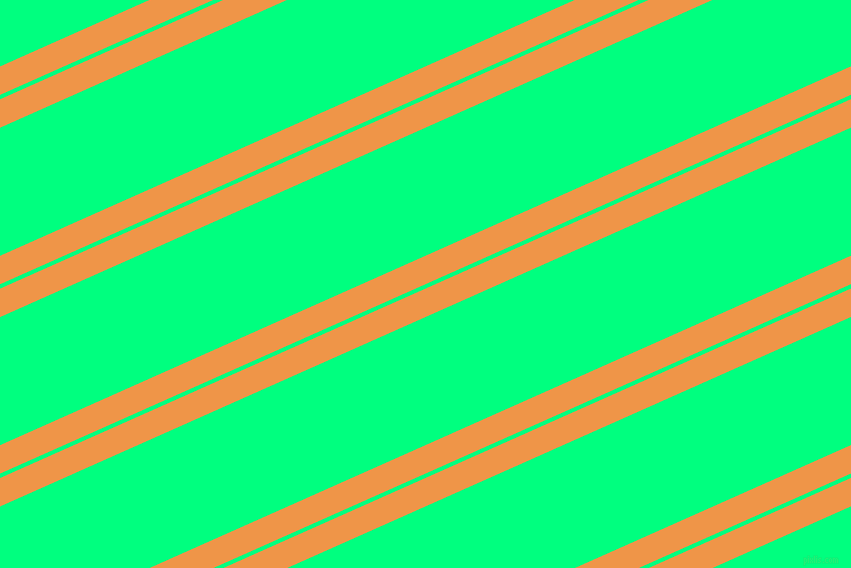 24 degree angle dual stripes line, 26 pixel line width, 4 and 117 pixel line spacing, Sea Buckthorn and Spring Green dual two line striped seamless tileable
