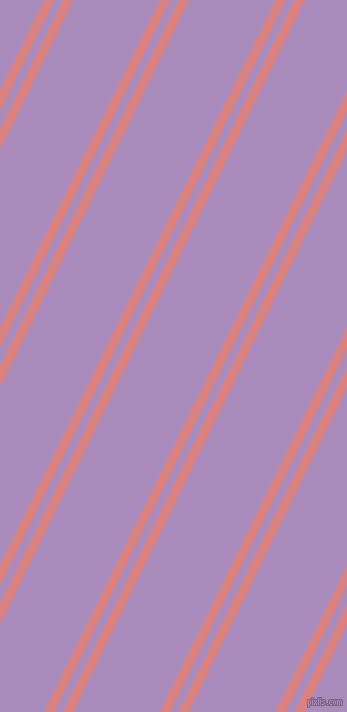 64 degree angles dual striped line, 9 pixel line width, 8 and 78 pixels line spacing, Sea Pink and East Side dual two line striped seamless tileable