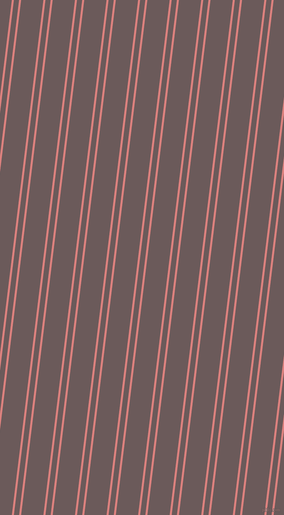 83 degree angle dual stripe lines, 4 pixel lines width, 10 and 43 pixel line spacing, Sea Pink and Zambezi dual two line striped seamless tileable