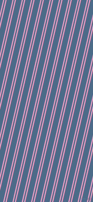 77 degree angle dual stripes lines, 4 pixel lines width, 4 and 19 pixel line spacing, Shocking and Wedgewood dual two line striped seamless tileable