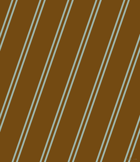 71 degree angles dual striped lines, 6 pixel lines width, 8 and 70 pixels line spacing, Skeptic and Raw Umber dual two line striped seamless tileable