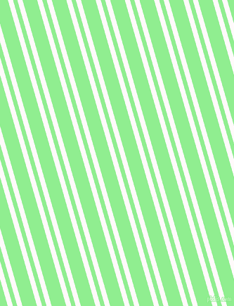 106 degree angle dual stripes lines, 7 pixel lines width, 6 and 20 pixel line spacing, Snow and Light Green dual two line striped seamless tileable