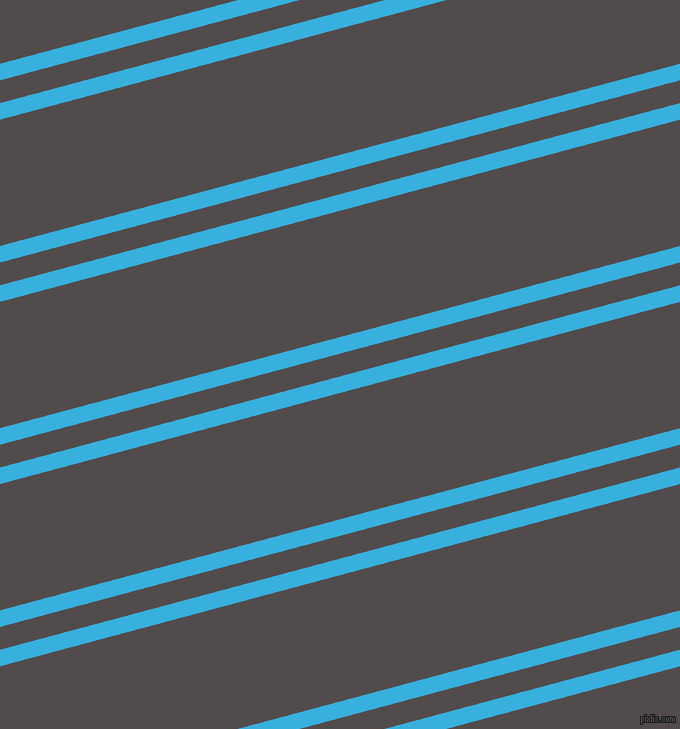 15 degree angles dual stripes line, 16 pixel line width, 22 and 122 pixels line spacing, Summer Sky and Matterhorn dual two line striped seamless tileable