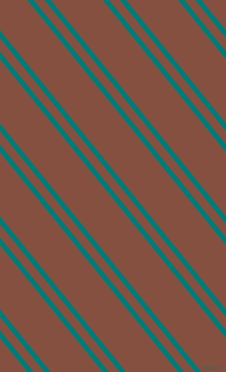 129 degree angle dual stripes lines, 10 pixel lines width, 16 and 79 pixel line spacing, Surfie Green and Ironstone dual two line striped seamless tileable