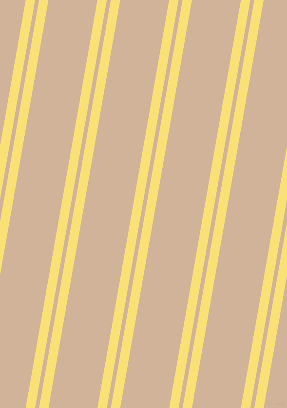 80 degree angle dual stripe line, 19 pixel line width, 8 and 99 pixel line spacing, Sweet Corn and Cashmere dual two line striped seamless tileable