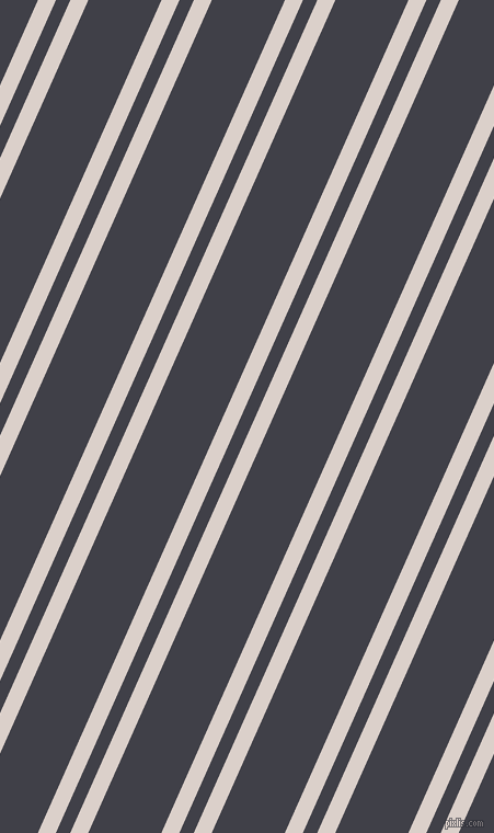 66 degree angle dual stripe lines, 15 pixel lines width, 12 and 61 pixel line spacing, Swiss Coffee and Payne