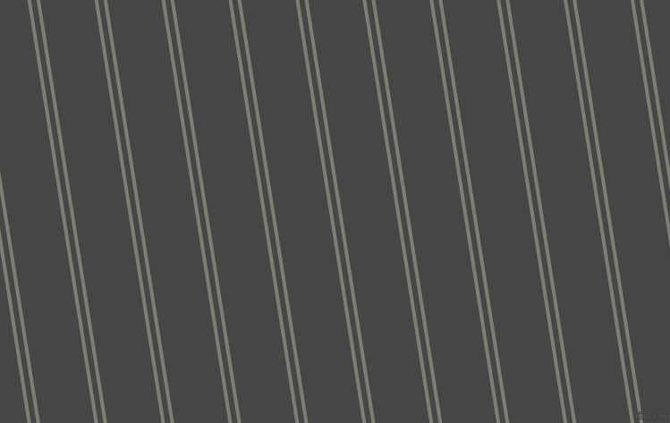 99 degree angles dual stripe lines, 4 pixel lines width, 6 and 60 pixels line spacing, Tapa and Charcoal dual two line striped seamless tileable