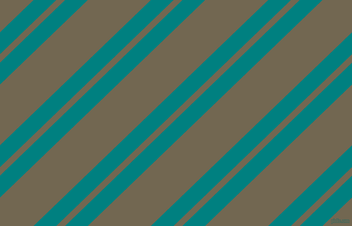 44 degree angle dual striped lines, 31 pixel lines width, 12 and 86 pixel line spacing, Teal and Coffee dual two line striped seamless tileable