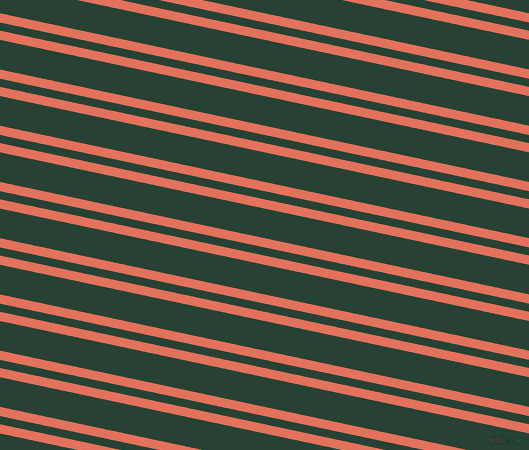 168 degree angles dual striped line, 9 pixel line width, 8 and 29 pixels line spacing, Terra Cotta and English Holly dual two line striped seamless tileable