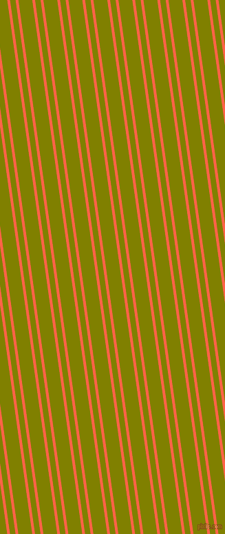 98 degree angle dual stripes lines, 4 pixel lines width, 8 and 20 pixel line spacing, Tomato and Olive dual two line striped seamless tileable