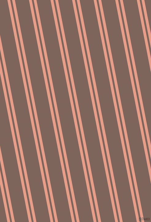 101 degree angles dual stripes line, 9 pixel line width, 6 and 45 pixels line spacing, Tonys Pink and Russett dual two line striped seamless tileable