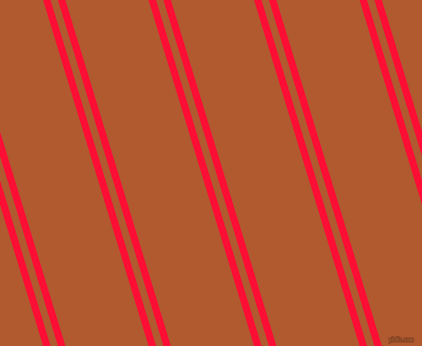 107 degree angles dual stripe line, 10 pixel line width, 10 and 112 pixels line spacing, Torch Red and Fiery Orange dual two line striped seamless tileable