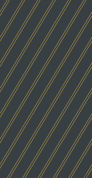59 degree angle dual striped lines, 2 pixel lines width, 6 and 43 pixel line spacing, Turmeric and Mirage dual two line striped seamless tileable