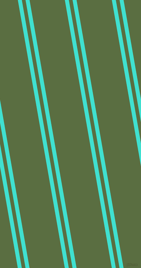 100 degree angle dual stripes lines, 13 pixel lines width, 12 and 114 pixel line spacing, Turquoise and Chalet Green dual two line striped seamless tileable