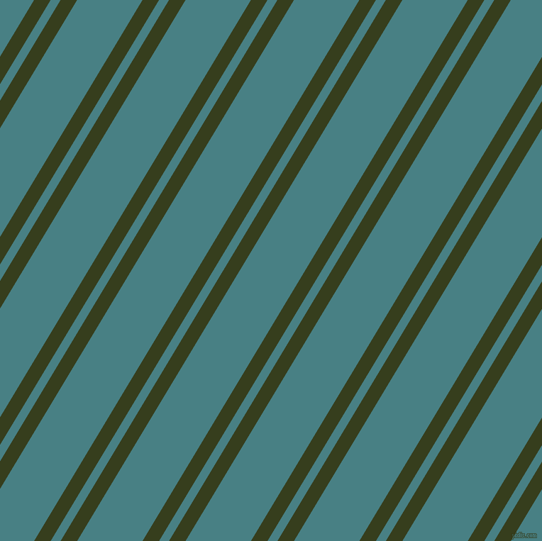 59 degree angles dual striped lines, 20 pixel lines width, 12 and 79 pixels line spacing, Turtle Green and Paradiso dual two line striped seamless tileable