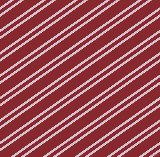 35 degree angles dual stripes line, 8 pixel line width, 12 and 36 pixels line spacing, Twilight and Flame Red dual two line striped seamless tileable