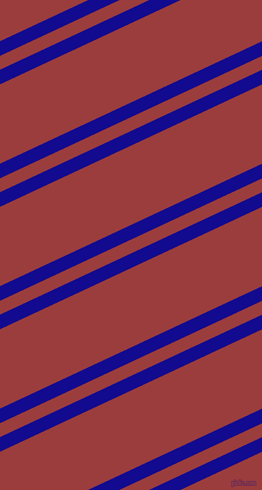 25 degree angles dual striped lines, 19 pixel lines width, 18 and 103 pixels line spacing, Ultramarine and Mexican Red dual two line striped seamless tileable