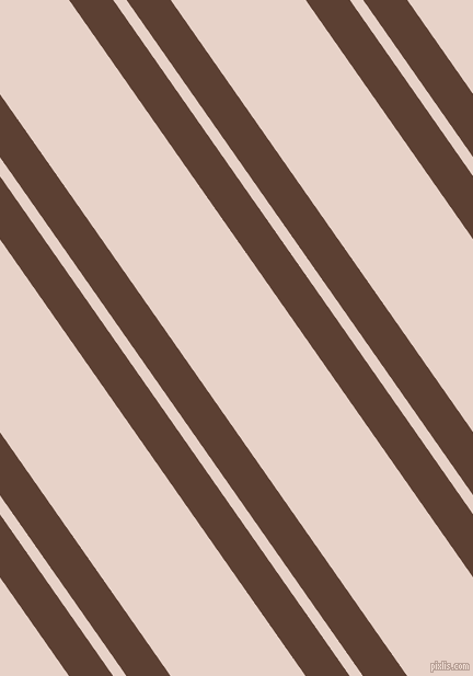 125 degree angle dual stripes line, 33 pixel line width, 10 and 101 pixel line spacing, Very Dark Brown and Bizarre dual two line striped seamless tileable