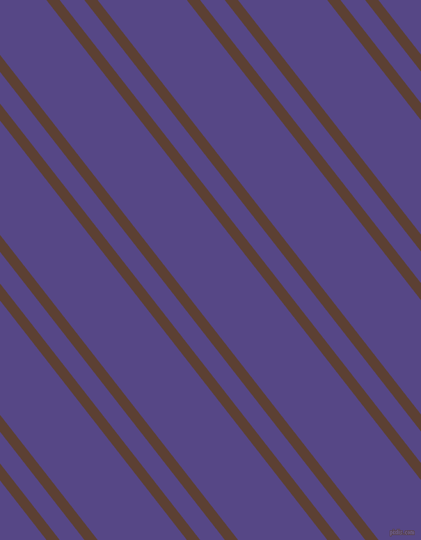 128 degree angles dual stripes line, 15 pixel line width, 28 and 101 pixels line spacing, Very Dark Brown and Gigas dual two line striped seamless tileable