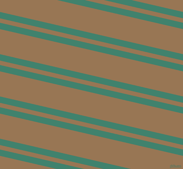 167 degree angle dual stripe lines, 20 pixel lines width, 14 and 79 pixel line spacing, Viridian and Pale Brown dual two line striped seamless tileable