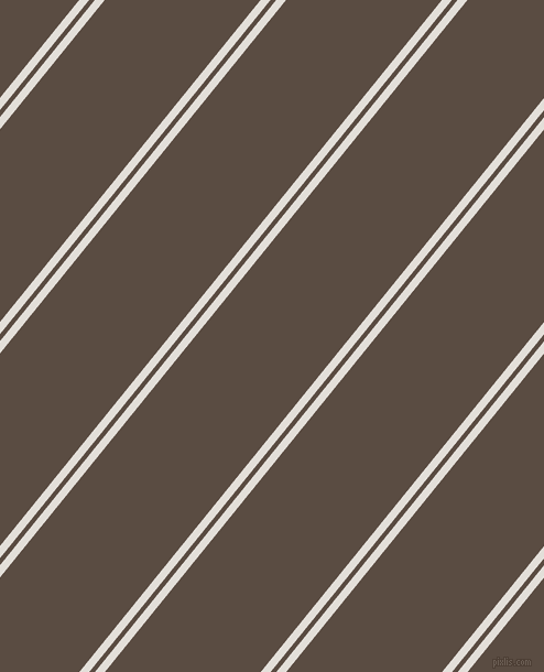 51 degree angle dual striped lines, 7 pixel lines width, 4 and 110 pixel line spacing, Vista White and Cork dual two line striped seamless tileable