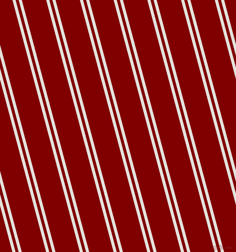 105 degree angle dual stripe line, 6 pixel line width, 6 and 47 pixel line spacing, Wan White and Maroon dual two line striped seamless tileable