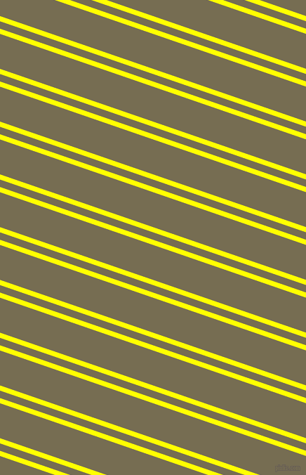 161 degree angle dual stripe lines, 7 pixel lines width, 10 and 47 pixel line spacing, Yellow and Peat dual two line striped seamless tileable