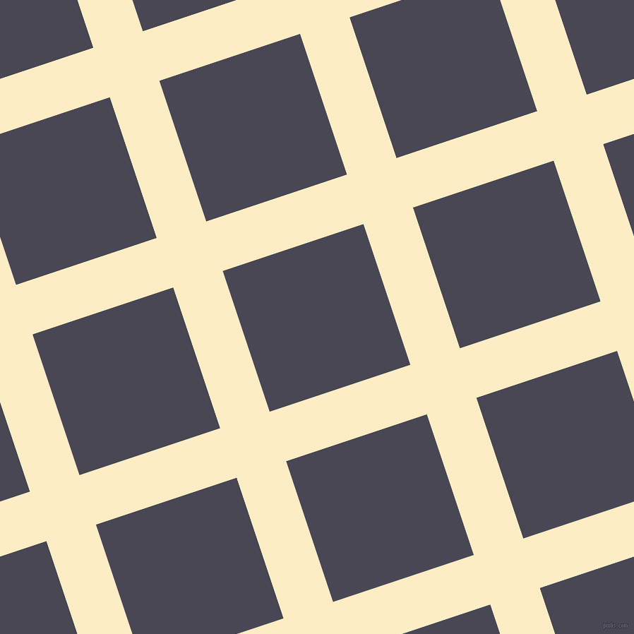 18/108 degree angle diagonal checkered chequered lines, 74 pixel lines width, 210 pixel square size, plaid checkered seamless tileable