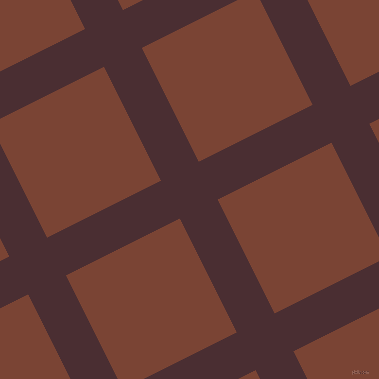 27/117 degree angle diagonal checkered chequered lines, 87 pixel lines width, 262 pixel square size, plaid checkered seamless tileable