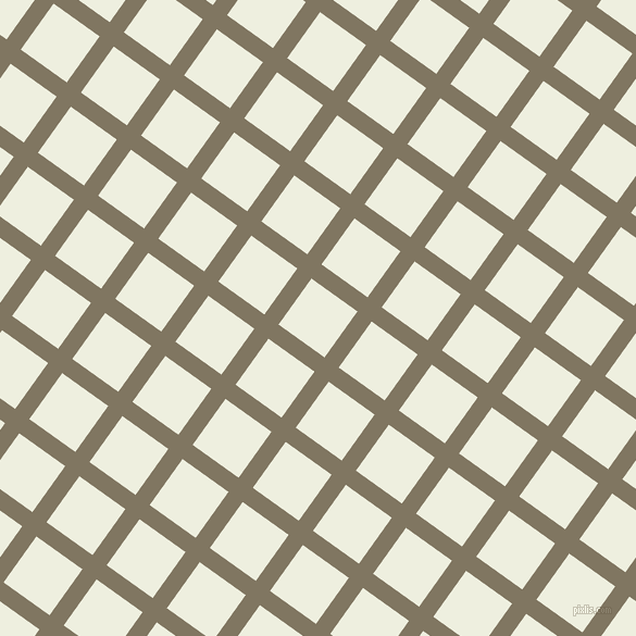 54/144 degree angle diagonal checkered chequered lines, 16 pixel line width, 52 pixel square size, plaid checkered seamless tileable