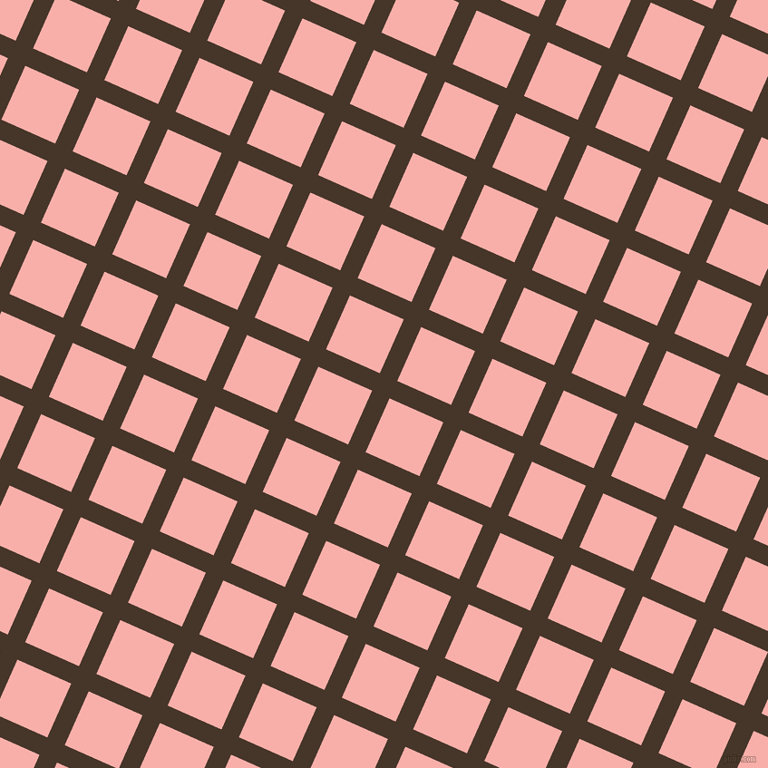 66/156 degree angle diagonal checkered chequered lines, 21 pixel line width, 65 pixel square size, plaid checkered seamless tileable